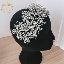 Luxury Handmade Silver Gorgeous Crystal Headband Gorgeous Bridal Hairpin... - £34.05 GBP