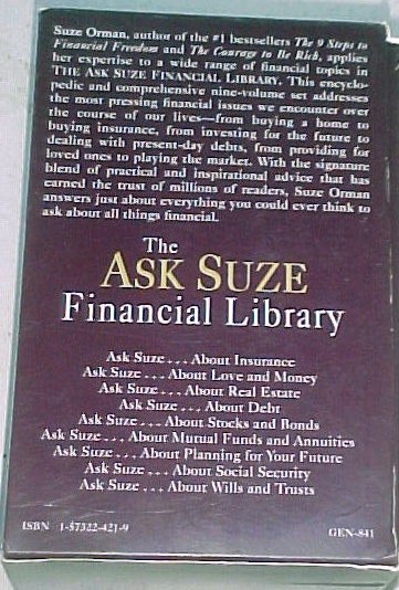 The Ask Suze Financial Library (9 Books) image 3