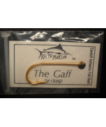 Ralph Marlin Neck Tie Clasp The Gaff Authentic Fish Hook Unused Label Backing - $8.99