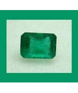 EMERALD 0.85ct Emerald Cut 6x4mm Faceted Natural Loose Gemstone - $42.99