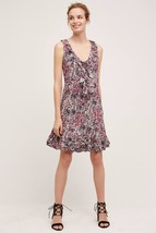 NWT ANTHROPOLOGIE WINDWARD RUFFLE LACE UP DRESS by MAEVE L - $85.49