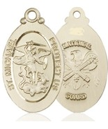 NATIONAL GUARD – 14KT Gold St. Michael Medal - 4145 - $1,399.99