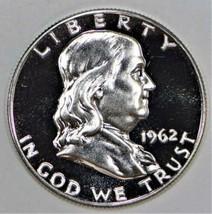 1962 Proof Franklin Half Dollar; Superb Gem Proof - $49.49