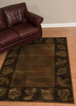 Lodge Cabin Rustic Leaves Forest Area Rug **Free Shipping** - €148,21 EUR+