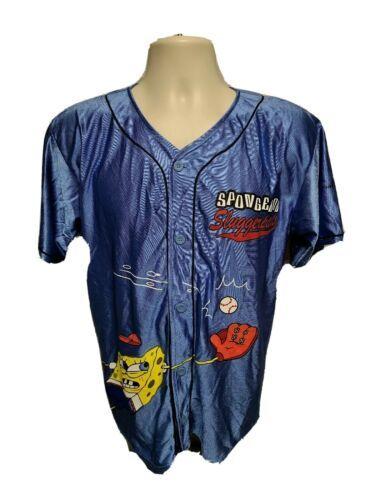 Universal Studios Spongebob Sluggerpants 13 Kids Large Blue Jersey - $29.69