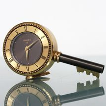 SWIZA Vintage Alarm Clock Mantel Alarm KEY Shaped Top! State SWISS Desk ... - $159.00