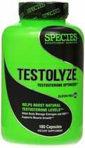 Species Nutrition TESTOLYZE, Natural T-Booster & Libido Enhancer, 180 Ca... - $43.99