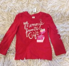 Red Christmas Top Girls size 3T Long Sleeve shirt Mommys favorite gift O... - $7.99