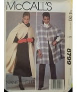 Misses Vintage Hooded Unlined Cape Sewing Pattern Size L 18-20 McCall's ... - $9.99