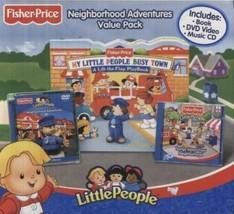 Fisher Price Little People Neighborhood Adventure Pack DVD Music CD Book - $34.64