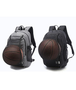 Large Mens Snow Canvas USB Charger Port Basketball Football Backpack - $44.99