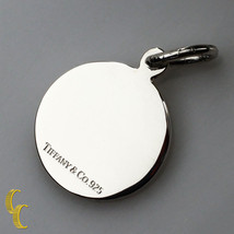 Tiffany & Co. Sterling Silver Round Tag Charm Pendant Great Condition! - $59.40