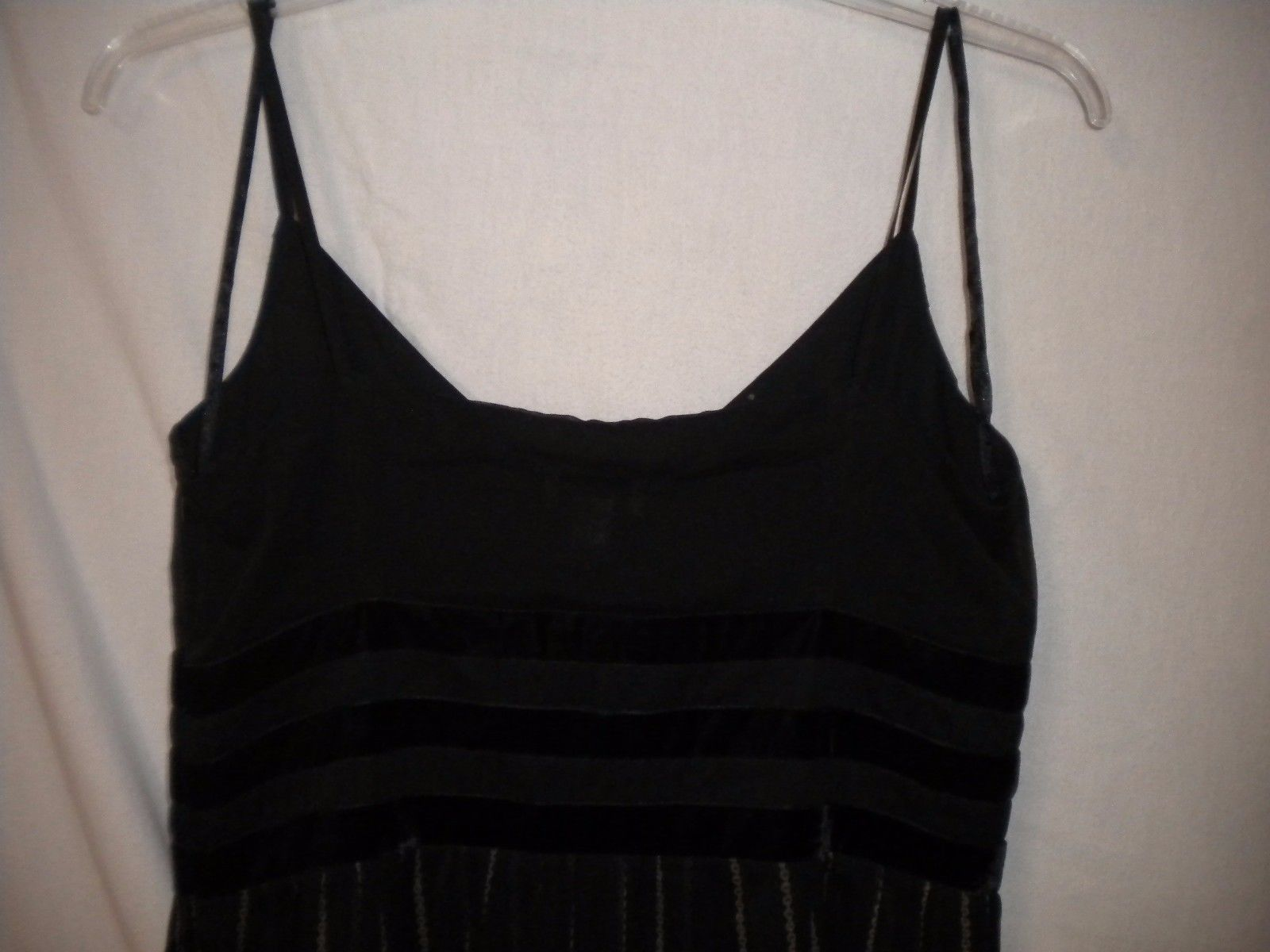 Ann Taylor LOFT 14 Black V Neck Spaghetti Strap Women LBD Cocktail Party Dress
