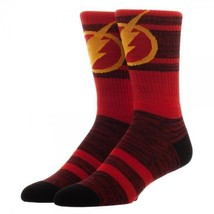 Flash Logo Marled Print DC Comics Adult Crew Socks - $11.95
