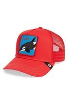 Goorin Bros Snapback Mesh Cap Animal Farm Trucker Hat (Red - Killer Whale)