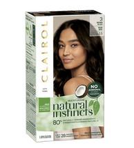 Clairol Natural Instincts Semi-Permanent Hair Color, #3 Brown Black 1 Ap... - $12.95