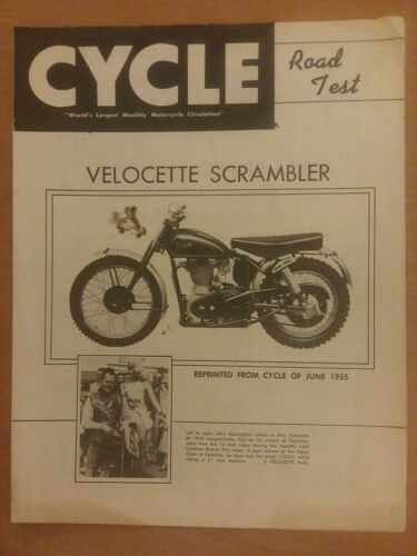 Primary image for Cycle Reprint June 1955 Road Test Velocette Scrambler