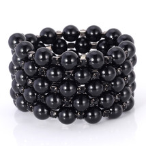 Fashion Women Bracelet Multi-layer Pearl Trendy Wide round Pearl - $37.59