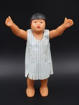 "Vintage Hawaiian Miniature Hard Plastic Doll 5 1/4"" tall - $13.85"