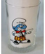 Smurf as Clown by Peyo Glass - $19.69