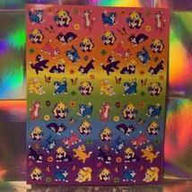 ⚡️SALE  S747 Kitten Sisterhood Minis Lisa Frank Sticker Sheet COMPLETE