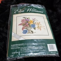 Elsa Williams Crewel Embroidery Kit Florentine Bouquet #00436 OPEN UNUSED - $102.83