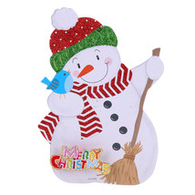 (07)Merry Christmas Shaped Hanging Letters Snowman Santa Claus Pendant C... - $14.00