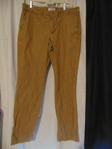 Express Finn Khaki Chino Slim Fit Dress Pants 34x34 100% Cotton - $19.80