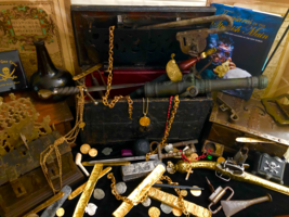TREASURE ARMADA CHEST EARLY 1600's NUREMBERG PIRATE GOLD COINS SHIPWRECK... - $9,950.00