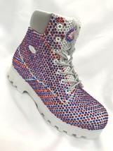 Men's White | Blue | Red Fashion Rhinestones Boots - $899.00