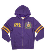 OMEGA PSI PHI FRATERNITY ZIP UP HOODIE JACKET PURPLE GOLD Q PSI PHI SOBA... - $50.00