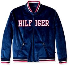Tommy Hilfiger Big Girls' Velour Track Jacket Full Zip, Flag Blue - Choo... - $52.99
