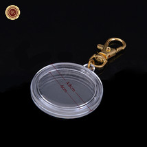 Clear Acrylic Coin Display With Keychain 24k Gold Keyring Holder For A 4... - $5.00