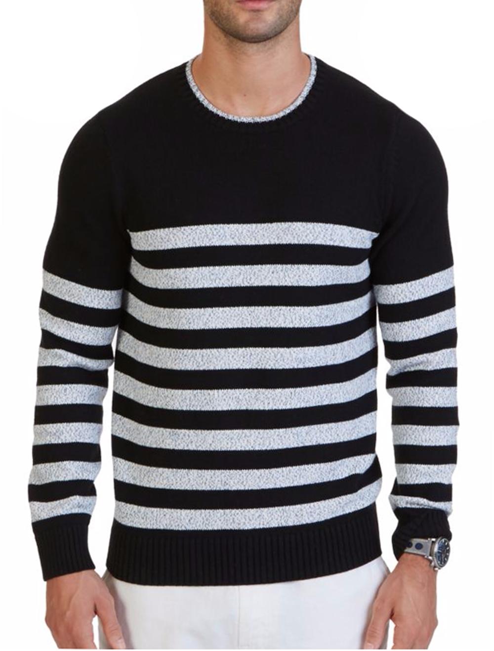Nautica Men's Breton Striped Sweater, True Black, Size XXL, MSRP $148