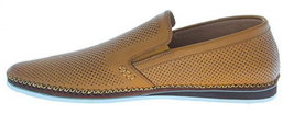 NEW ZANZARA Mens MERZ Slip-On Premium Perforated Leather Shoes image 9