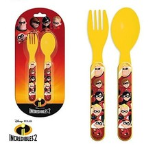 Disney Character Plastic Cutlery Set For Boys or Girls (The Incredibles 2) - $3.99