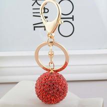 1pcs Keychain Pom Pom Women's Gem Car Key Ring Keychain Balls image 7