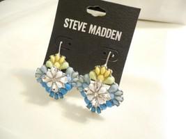 Steve Madden Silver-Tone Crystal & Stone Flower Drop Earrings J542 $30 - $13.43