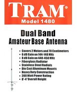 Tram 1480 Amateur Radio 144-148 MHz & 430-450 MHz Dual-Band Base Antenn... - $49.95