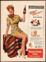 Vintage magazine ad ROYAL CROWN COLA 1943 Betty Hutton Miracle at Morgans Creek - $13.49