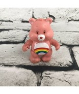 "CARE BEAR Vintage Posable PVC Character Figure 3"" Pink CHEER Bear CARE BEAR - $6.44"