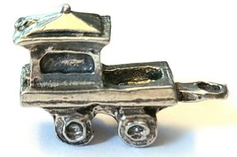 CABOOSE CAR FIGURINE CAST WITH FINE PEWTER - Approx. 1 inch Long  (T159)