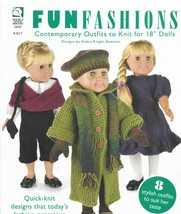 "Knitting Patterns-FUNFASHION Outfits for 18"" Doll-8 Outfits - $9.46"