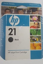 NOS Genuine HP 21 C9351AN Black Ink Cartridge in Sealed Box, expiration 6/2008 - $13.09
