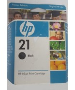 NOS Genuine HP 21 C9351AN Black Ink Cartridge in Sealed Box, expiration ... - $13.09
