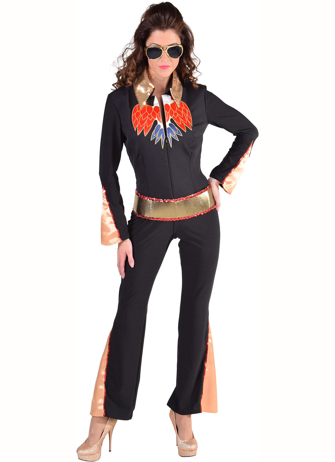 Ladies 70's  Glam Rock Las Vegas Jumpsuit