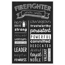 Firefighter Wall Art – Firefighter Graduate Gift -Firefighter Personaliz... - $23.27+