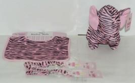 Baby Ganz Girl Pink Black Zebra Pattern Matching Gift Set image 1
