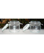 2 New Tito's Handmade Vodka Glass Canister Jars Wire bale Lid - $29.65