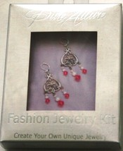Pure Allure Filagree Earrings Kit Pink Crystals - $9.49